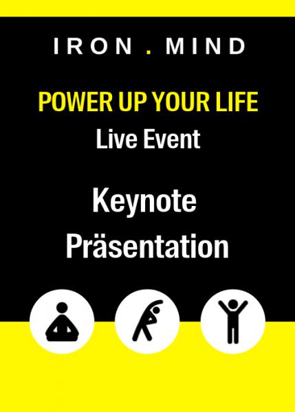 Keynote Präsentation POWER UP YOUR LIFE